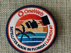 """Authentic OneWeb ST-32 3.5"""" embroidered Patch (Vostochny) Launch 7"""