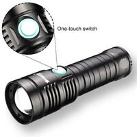 Tactical XHP50 LED Flashlight Torch 20000 LM Patroling Lamp SOS Strobe Light BT