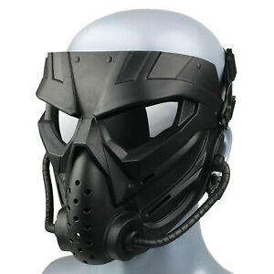 Skull Tactical Full Face Mask with Goggles for Airsoft Paintball CS Protective