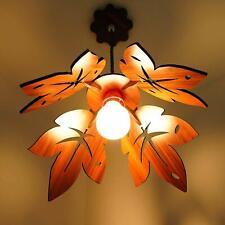 Modern Wooden Flower Ceiling Pendant Light Shade Lounge Home Lampshade Lighting