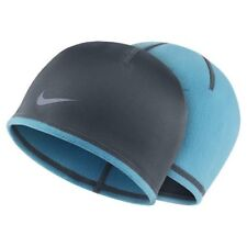 NEW Women's Nike Reversible Therma-Fit Beanie Blue 575824-401 Cap Running