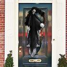 Halloween Party Decor Door Wreath Garland Outdoor Yard Decor Props Skull Witch