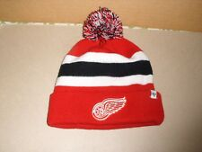NHL Detroit Red Wings Forty Seven 47 Brand Pom Pom Cuffed Knit Hat One Size