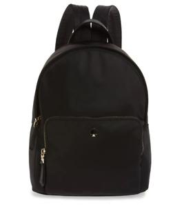 Kate Spade Women's Taylor Large Nylon Leather Trim Black Lighweight Backpack