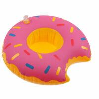 Rosa Donut Inflable Bebida Taza Soporte Caliente Bañera Piscina Playa Fiesta