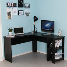 Corner Computer Desk L-shaped PC Table Workstation Home Office Study Furniture