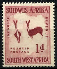 South West Africa 1954 SG#154w 1d Wmk Horns To Right MNH #D25287