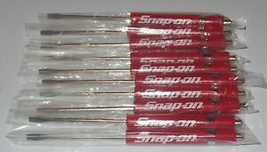 TEN NEW - SNAP ON RED POCKET SCREWDRIVERS,FLAT TIP WITH MAGNETIC END - NEW!!