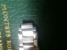 ROLEX VINTAGE 7205 FOLDED RIVETED 2 LINK FIERST FROM THE BUCKLE