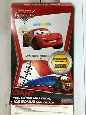 Lightning McQueen Cars Disney Peel & Stick Wall Decal Decorative Child's Room