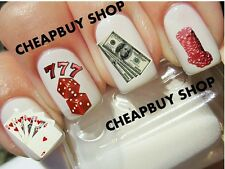 Flash Sale》777》Lucky 7 CASINO SLOTS GAMBLING CASH MONEY》Tattoo Nail Art Decals