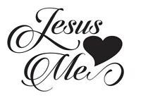 Jesus love vinyl decal sticker Decal, Yeti Tumbler Decal, LAPTOP cars windows