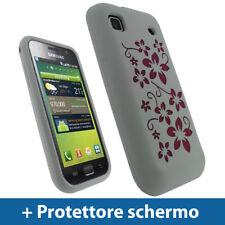 Bianco Floreale Custodia per Samsung i9000 Galaxy S Silicone Skin Case Cover
