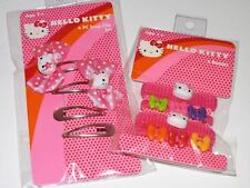 Hello Kitty - Hair Clips/Hair Bands - 2 Sets of 4 ( 8 Total ) Pink
