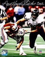 Dan Hampton Signed Chicago Bears Super Bowl XX Sack 8x10 Photo w/HOF 2002-SS COA