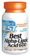 Doctor's Best Besten Alpha-liponsäure 600 MG 60 Veggie Caps