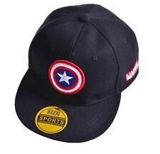Kid Boys Captain America Snapback Baseball Cap Hat Adjustable Gift Accessory