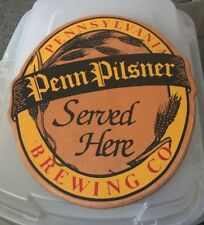 PENN PILSNER BEER WOODEN ADVERTISING SIGN PENNSYLVANIA BREWING CO PITTSBURGH PA