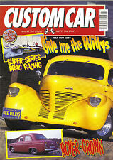 CUSTOM CAR JULY 1999-WILLYS-CHASSIS TECH PT5-TUBBED 100E-MERCURY LOWRIDER V8 ROD