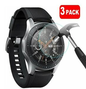 For Samsung Galaxy Smart Watch 46mm 3 x Tempered Glass Screen Protector