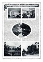 Heilanstalt Woltorf Peine XL Reklame 1913 Nervenkranke Dr. Alber Pychatrie