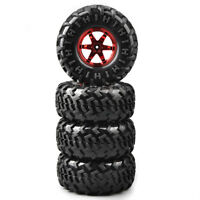 4Pcs 1/10 Rubber Bigfoot Tires&Wheel 12mm Hex For 1:10 Monster Truck RC Car Tyre