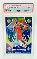 2019-20 Chronicles ZION WILLIAMSON Crusade Rookie #529 SILVER PRIZM MINT PSA 9