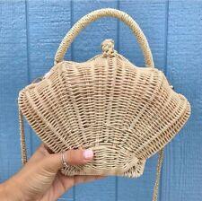 Shell shaped rattan straw Bag Handbag Chic Women Shoulder Messenger beach woven