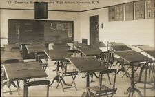 Oneonta NY High School Drawing Room c1910 Real Photo Postcard #13 EXC COND