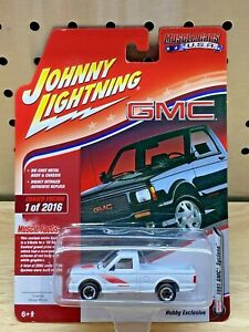 Johnny Lightning 1991 GMC Syclone, 2018 Muscle Cars USA #4 White Hobby Exclusive
