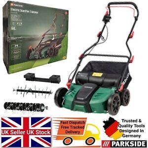 Parkside 2in1 Electric Scarifier & Aerator Powerful 1500w Lawn Raker Garden Tool