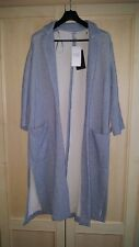 BNWT ZARA TRAFALUC SKY BLUE LONG SPLIT SIDE COAT JACKET SIZE SMALL