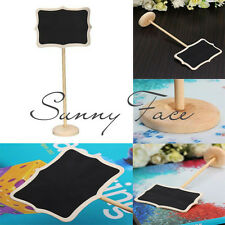 10pcs Wedding Party Holder Small Blackboard Chalkboard Wooden Clip Message Label
