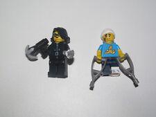 Lego ® Lot x2 Minifig Figurine Série 15 Cambrioleuse + Maladroit NEW