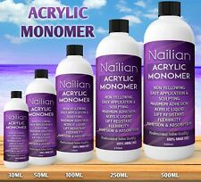 NAIL SCULPTING ACRYLIC MONOMER LIQUID SALON QUALITY FREE & FAST DELIVERY