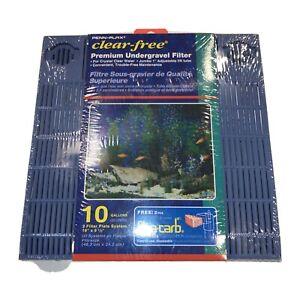 Penn Plax Premium Under Gravel Filter System 10 Gallon Fish Tanks & Aquariums