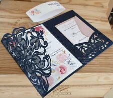 Wedding Invitations 3 samples Rustic Beach Elegant Shabby Chic hessian invites
