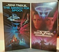 Star Trek Lot of 2 The Final Frontier, The Search For Spock VHS Tapes 1989 1984