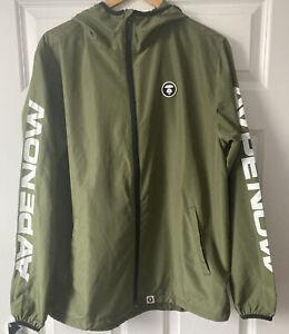 BAPE A Bathing Ape AAPE Mens Lightweight Green Windbreaker Jacket UK Size Large