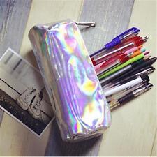 Fashion Hologram Pencil Case Pen Holder Makeup Boxes Zipper Comestic Storage Bag