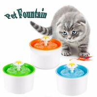 Automatic Pet Fountain Free Water Dispenser Drinking Bowl For Pet Cat Dog USA
