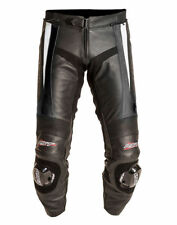 Pantalons blancs en cuir pour motocyclette