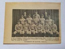 University of Illinois Carl Lundgren 1922 Baseball Team Picture
