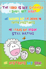 23rd Psalm THE LORD IS MY SHEPHERD Mellow Sheep Inspirational WALL POSTER