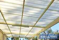 DIY Pergola/Patio Kit - Polycarbonate Roof, One Side Attachment 10m×5m