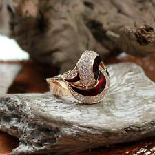 Leo Wittwer 18kt Rosé Gold Ring mit Diamanten und Emaille