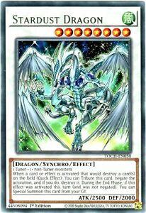 YU-GI-OH! TOCH-EN050 Stardust Dragon Drago Polvere di Stelle rara inglese yugioh
