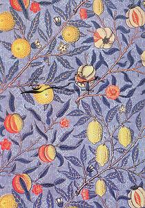 Kunstpostkarte -  William Morris:  Granatapfel Tapetendesign
