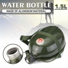 Army green Military Cadet Camping Hiking Aluminum Drinks Water Bottle Cantee