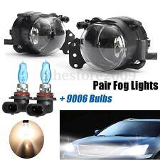 2x Front Fog Light W/ Bulbs Housing Clear For BMW E60 E90 E46 E63 323i 325i 525i